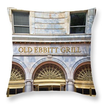 Old Ebbitt Grill Throw Pillow