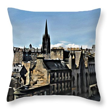 Olde Edinburgh Throw Pillow