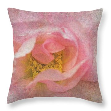 Old English Rose Throw Pillow