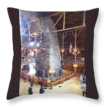 Old Faithful Inn Throw Pillow