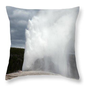 Old Faithful Throw Pillow