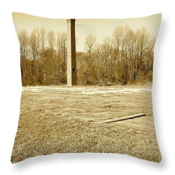 Old Faithful Smoke Stack Throw Pillow