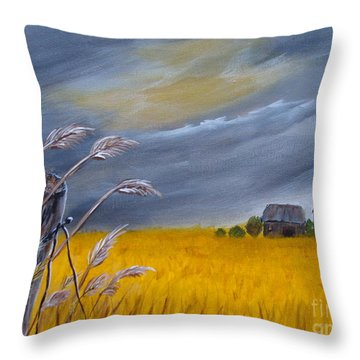 Old Farm 1 Throw Pillow by Beverly Livingstone