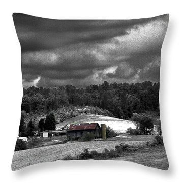 Old Farm Throw Pillow