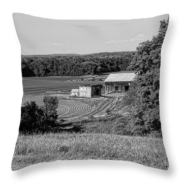 Old Farm House Revisited Throw Pillow