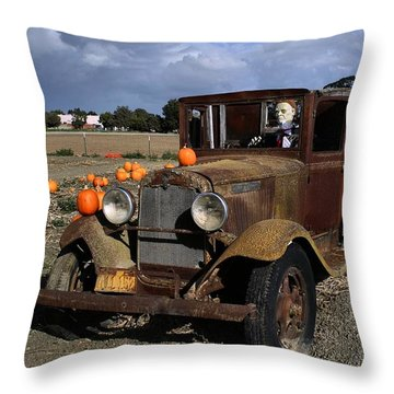 Throw Pillow featuring the photograph Old Farm Truck by Michael Gordon