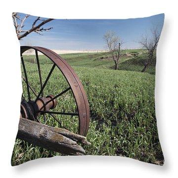 Old Farm Wagon Throw Pillow