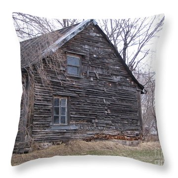 Old Farm Yamachiche Throw Pillow by Line Gagne