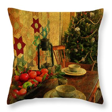 Throw Pillow featuring the photograph Old Fashion Christmas At Atalaya by Kathy Baccari