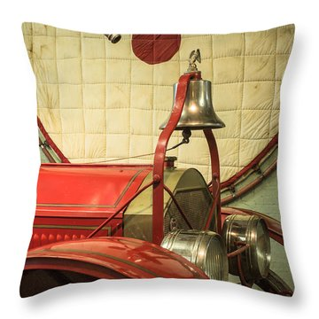 Old Fire Truck Engine Safety Net Throw Pillow