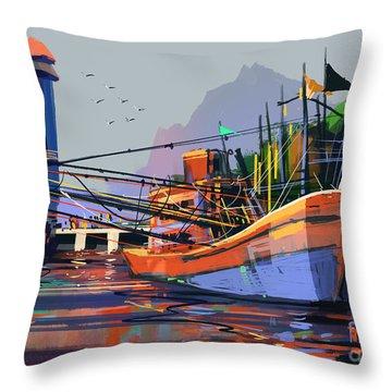 Ocean City Throw Pillows