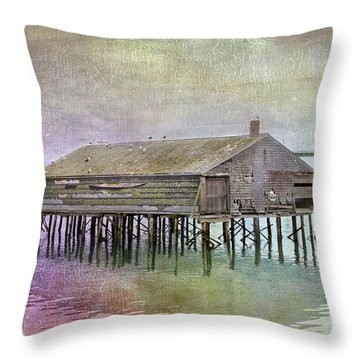 Old Fishing Pier  Throw Pillow