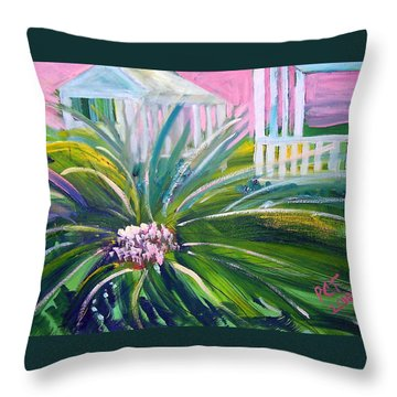 Old Florida Throw Pillow by Patricia Taylor