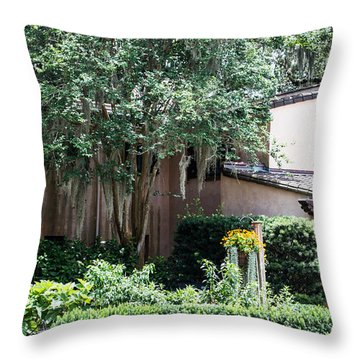Old Florida Style Throw Pillow