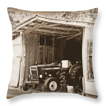 Throw Pillow featuring the photograph Old Ford by Faith Williams