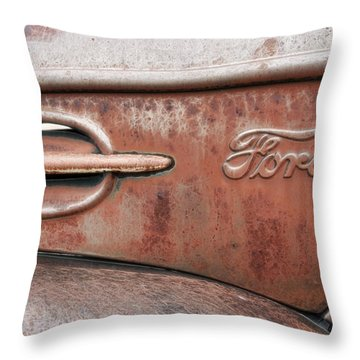 Old Ford Logo Throw Pillow