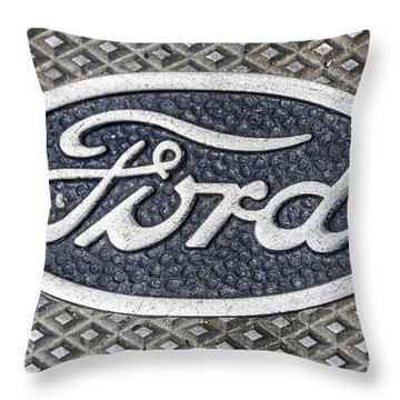 Old Ford Symbol Throw Pillow