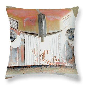Old Ford Truck - Photopower Throw Pillow by Pamela Critchlow
