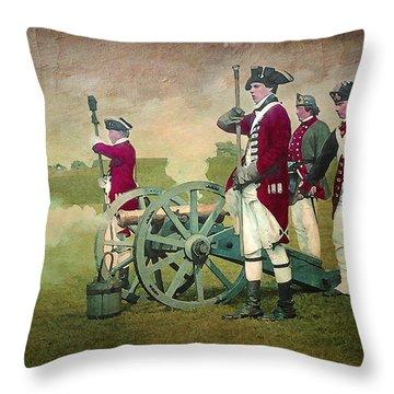 Throw Pillow featuring the digital art Old Fort Niagara by Lianne Schneider