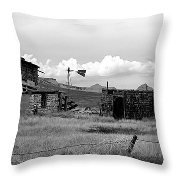Old Fort Throw Pillow by Steven Reed