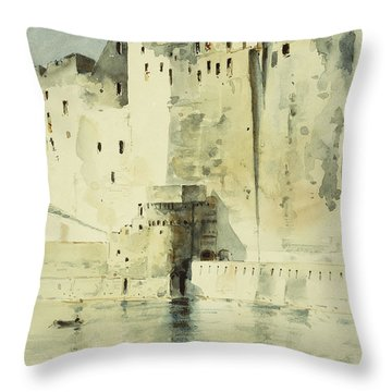 Old Fortress Naples Throw Pillow by Childe Hassam