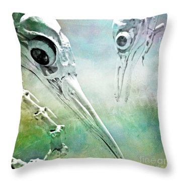 Throw Pillow featuring the photograph Old Friends by Chris Scroggins