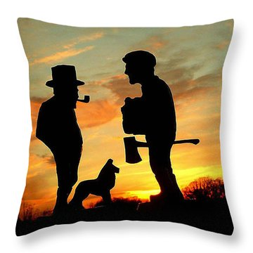Old Friends Converge At Dusk Throw Pillow
