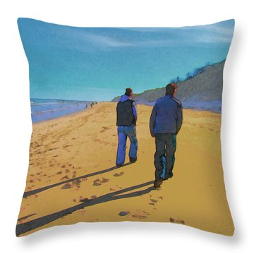 Old Friends Long Shadows Throw Pillow
