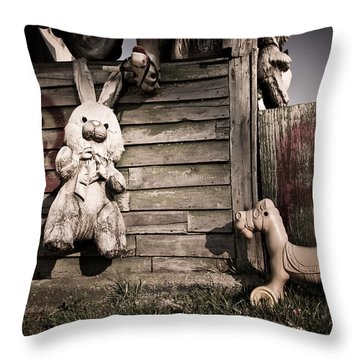 Old Friends Throw Pillow by Priya Ghose
