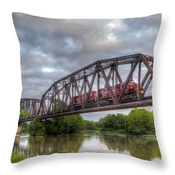 Old Frisco Bridge Throw Pillow by James Barber