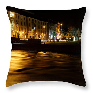 Old Galway At Night Throw Pillow