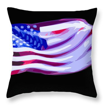 Throw Pillow featuring the digital art Old Glory 2 by Brian Stevens