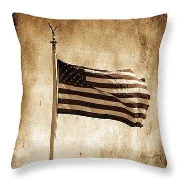 Throw Pillow featuring the photograph Old Glory by Aaron Berg