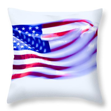Throw Pillow featuring the photograph Old Glory by Brian Stevens