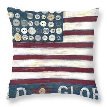 Old Glory Throw Pillow by Carol Neal