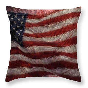 Old Glory Throw Pillow by Jack Zulli