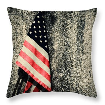 Old Glory Throw Pillow by Karol Livote