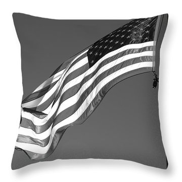 Throw Pillow featuring the photograph Old Glory by Ron White