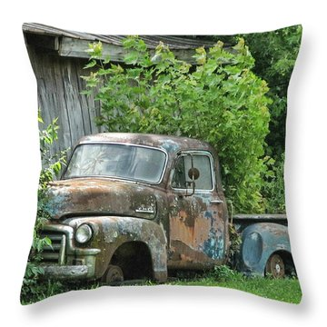 Old Gmc Throw Pillow by Victor Montgomery