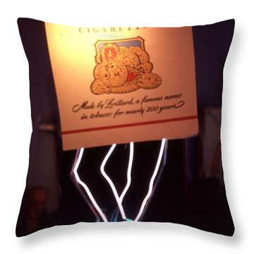 Old Gold Dancing Pack Throw Pillow by Pacifico Palumbo