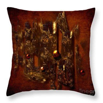 Oldgold Throw Pillow