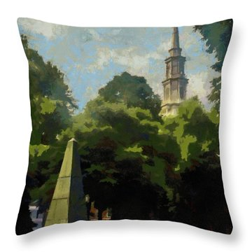 Old Granery Burying Ground Throw Pillow by Jeff Kolker