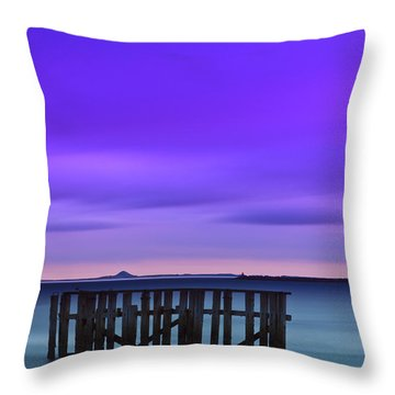 Old Granton Pier Throw Pillow