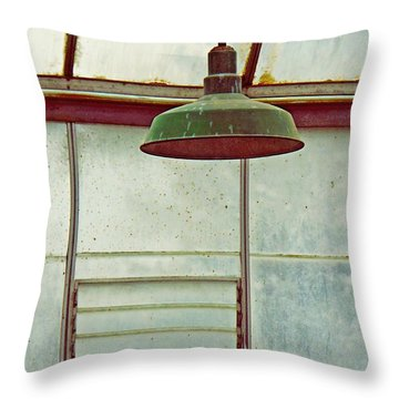 Old Green Lamp Throw Pillow
