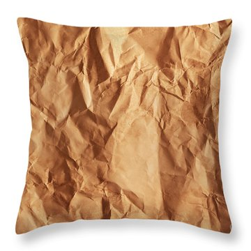 Old Grunge Creased Paper Texture. Retro Vintage Background Throw Pillow