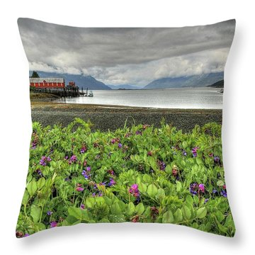 Old Haines Cannery Throw Pillow
