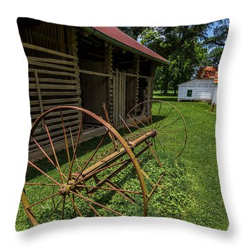 Old Hay Rake Throw Pillow