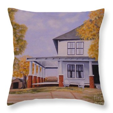 Old Home Place Throw Pillow