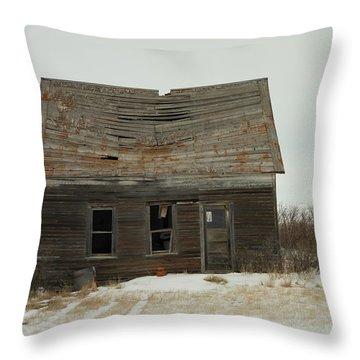 Old Homestead North Dakota Throw Pillow by Jeff Swan
