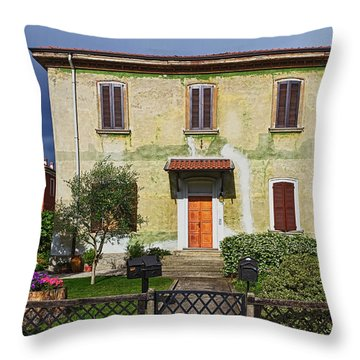 Old House In Crespi D'adda Throw Pillow